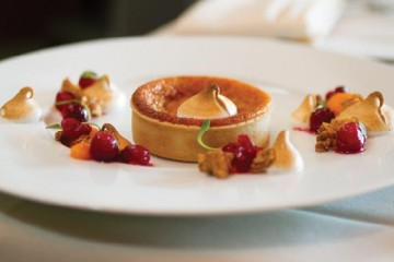 Sweet Potato Tart by pastry chef Rachel King of Nine-Ten in La Jolla