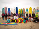 Legends show off their boards at the Luau and Longboard Invitational